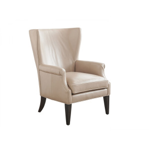 Newton Leather Wing Chair