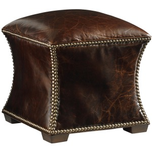Eclipse Leather Ottoman