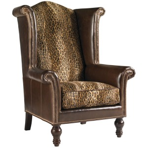 Kings Row Leather Wing Chair