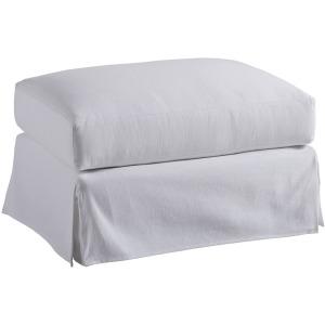 Marina Slipcover Ottoman (white)