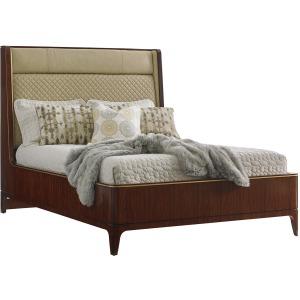 Empire Upholstered Platform Bed 5/0 Queen