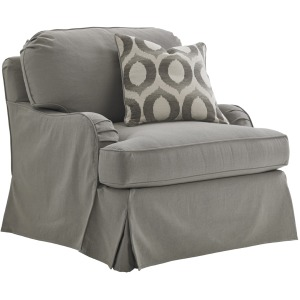 Stowe Slipcover Swivel Chair (gray)