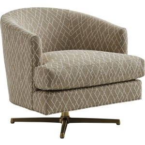 Graves Swivel Chair (Brass)