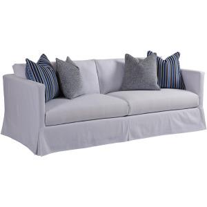Marina Slipcover Apartment Sofa in White