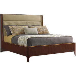 Empire Upholstered Platform Cal King Bed