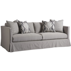 Marina Slipcover Apartment Sofa - Gray