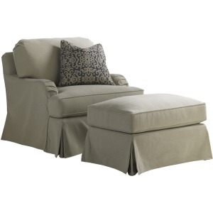 Stowe Swivel Slipcover Chair - Khaki