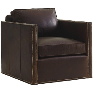 Hinsdale Leather Swivel Chair