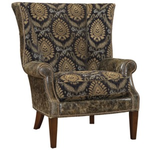 Marissa Leather Wing Chair