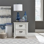 Allyson Park 2 Drawer Night Stand w/ Charging Station