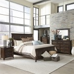 Saddlebrook Queen Panel Bed, Dresser & Mirror, Chest, NS