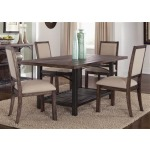 Franklin Rustic Brown Rectangular Leg Table