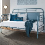 Vintage Series Twin Metal Day Bed - Blue
