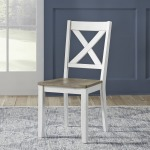 Lakeshore X Back Side Chair- White (RTA)