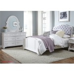 Arielle Youth Twin Panel Bed, Dresser & Mirror
