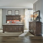 Big Valley Queen Panel Bed, Dresser & Mirror