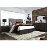 Tivoli King Panel Bed, Dresser & Mirror, Nightstand