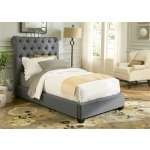 Upholstered Youth Twin Platform Footboard, Rails & Slats