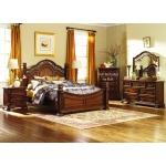 Messina Estates Queen Poster Bed, Dresser & Mirror, Night Stand