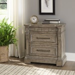 Town & Country 3 Drawer Nightstand w/ Charging Station
