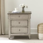 Ivy Hollow 3 Drawer Night Stand w/ Charging Station