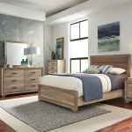 Sun Valley King Uph Bed, Dresser & Mirror, Night Stand
