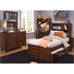 Chelsea Square Youth Twin Bookcase Bed, Dresser & Mirror