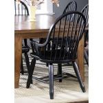 Treasures Bow Back Arm Chair - Black