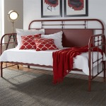 Vintage Series Twin Metal Day Bed - Red