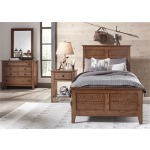 Grandpa's Cabin Youth Full Sleigh Bed, Dresser & Mirror