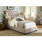 Upholstered Youth Bed Twin Sleigh Bed