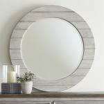 Heartland Round Mirror - White