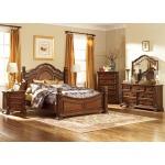 Messina Estates Queen Poster Bed, Dresser & Mirror, Chest, Night Stand