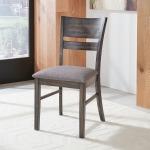 Anglewood Slat Back Upholstered Side Chair