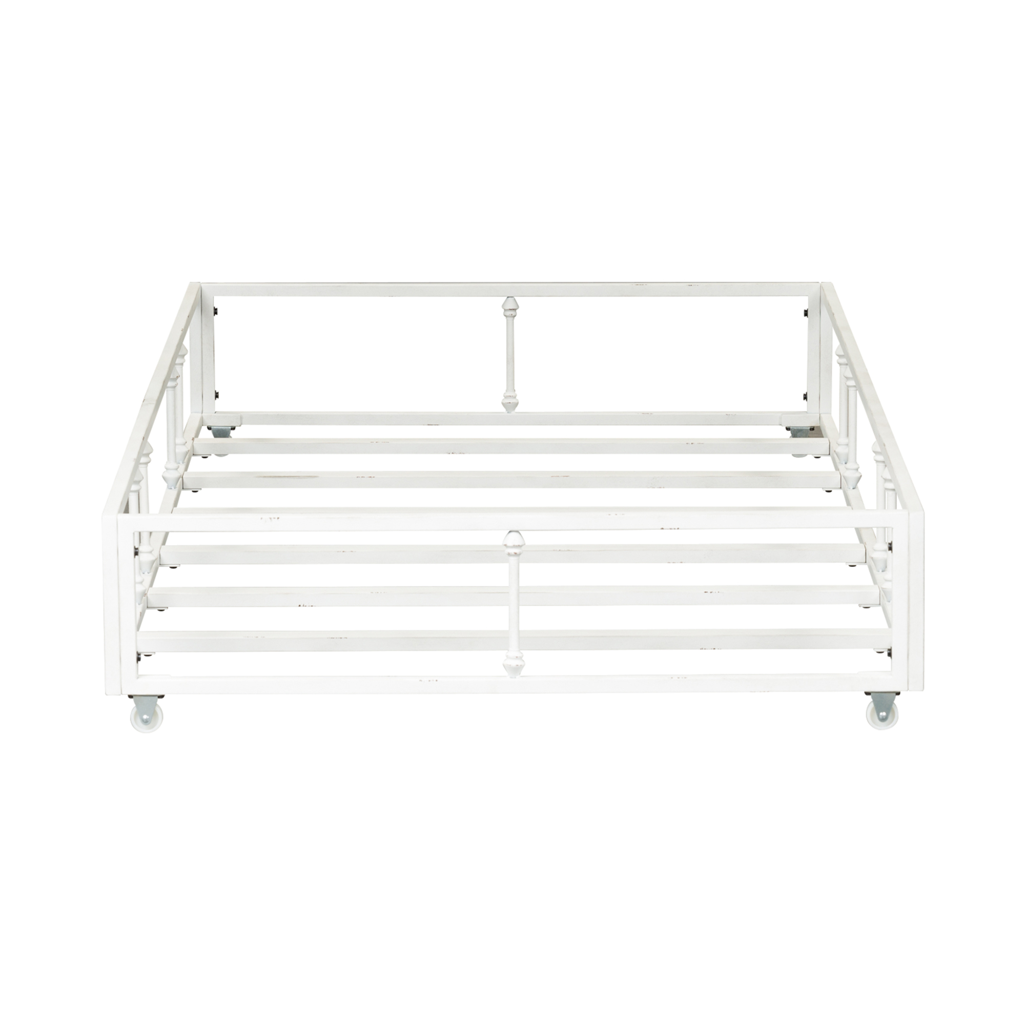 Twin Metal Trundle Antique White By Samuel Frederick Furniture The Furniture Mall