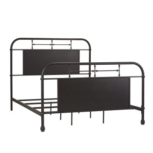 Vintage Series Queen Metal Bed - Black