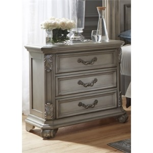 Messina Estates 3 Drawer Nightstand