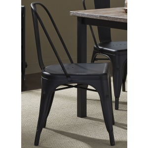 Vintage Series Bow Back Side Chair - Black