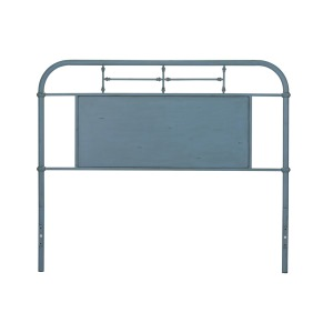 Queen Metal Headboard -Blue