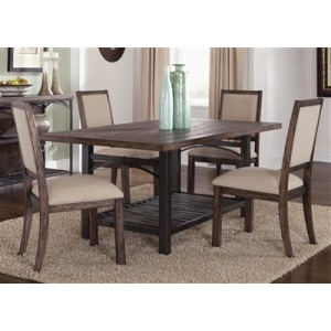 Franklin Rustic Brown Rectangular Leg Table