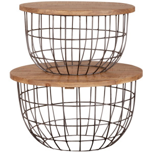 Akins Nesting Caged Accent Tables
