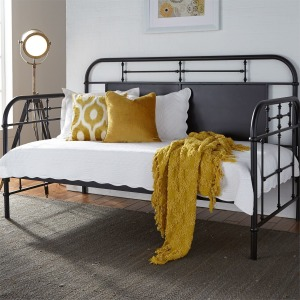 Vintage Series Twin Metal Day Bed - Black