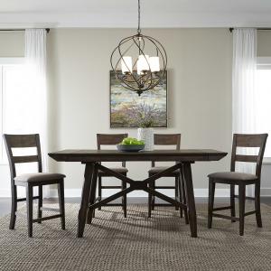 Double Bridge 5 Piece Gathering Table Set