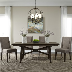 Double Bridge Opt 5 Piece Trestle Table Set