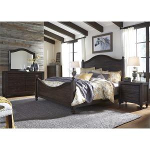 Catawba Hills King Poster Bed, Dresser & Mirror, Chest, Nightstand