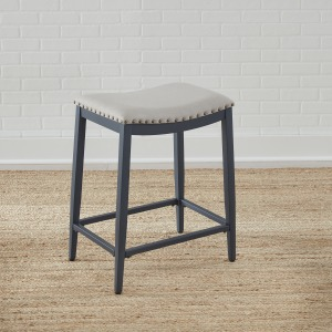 Vintage Series Backless Uph Counter Chair- Navy