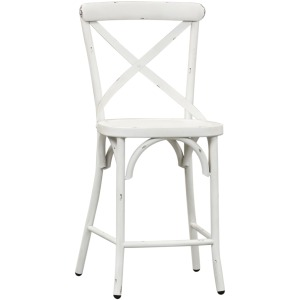 Vintage Series X Back Counter Chair - Antique White