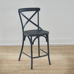 Vintage Series X Back Counter Chair- Navy