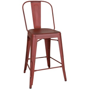 Vintage Series Bow Back Counter Chair - Red (RTA)