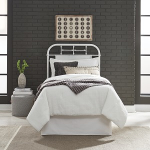 Vintage Series Twin Metal Headboard - Antique White